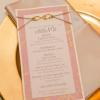 ♥We coordinated with the wedding planner to make sure the menus would fit perfectly in the napkins when folded. - Photo: Tim Otto