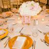 ♥Menus were designed to tuck into the napkin at each place setting. -Photo: Tim Otto