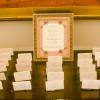 ♥Keys were even used to decorate the sign on the Escort Card Table. -Photo: Tim Otto