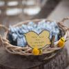 ♥A hand-embossed bird was attached to the Yarmulka basket.