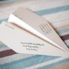 ♥These fancy paper airplanes got guests excited to head to Costa Rica! -Photo: Julie Comfort