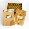 ♥Every piece of this invitation was like opening a present. The design on the outside of the box was embossed in gold.