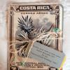 "♥We carried the vintage Costa Rican postage stamp ""theme"" to the inside of the invitation suite.  The ""Welcome Fiesta"" Invitation was on the back of the enlarged vintage pineapple stamp and the ""Rehearsal Dinner"" Invitation was on the back of another enlarged vintage stamp."